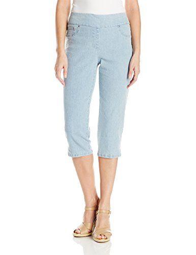 ecdf636983b Ruby Rd. Women s Plus Size Pull-on Extra Stretch Denim Cropped Capri ...