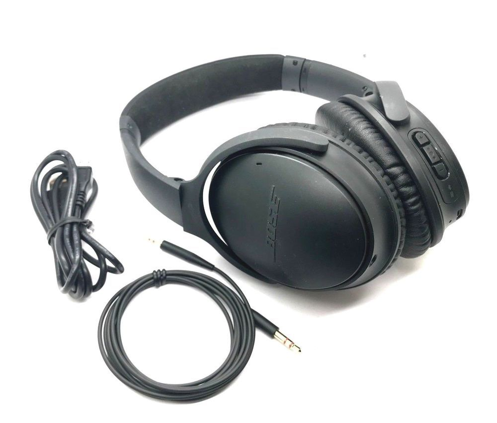 Bose Quietcomfort 35 Wireless Noise Cancelling Headphones Wire Cable Included To Make Headp Headphones Black Headphones Wireless Noise Cancelling Headphones