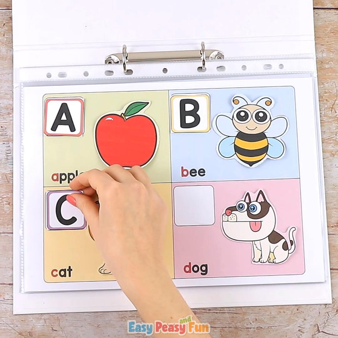 Printable Alphabet Quiet Book for Kids