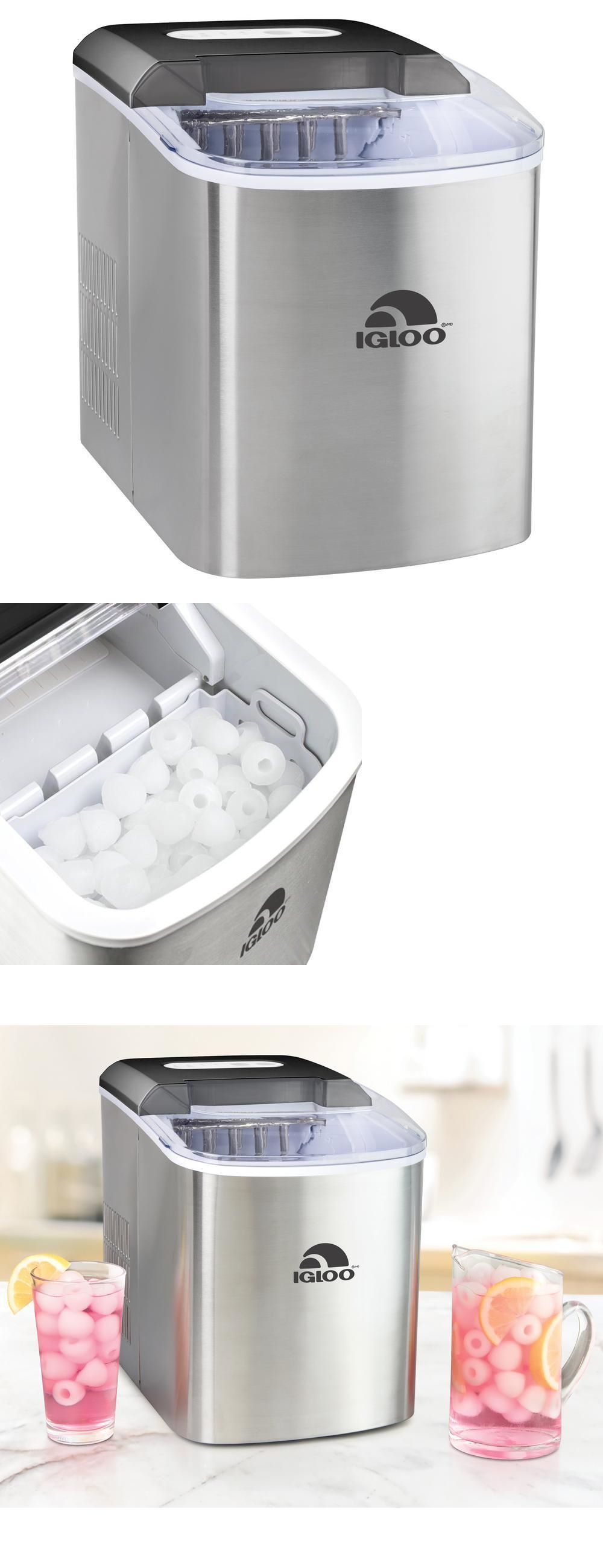 Countertop Ice Makers 122929 Igloo Iceb26ss 26 Pound Automatic Ice Maker Stainless Steel Buy It Now Only 142 Automatic Ice Maker Ice Maker Countertops