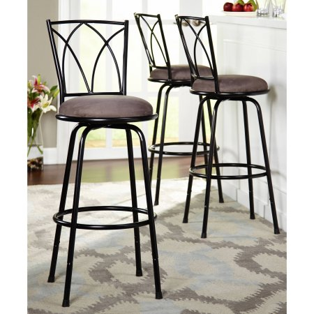 Groovy Delta Adjustable Metal Barstools 3 Piece Set Black Unemploymentrelief Wooden Chair Designs For Living Room Unemploymentrelieforg