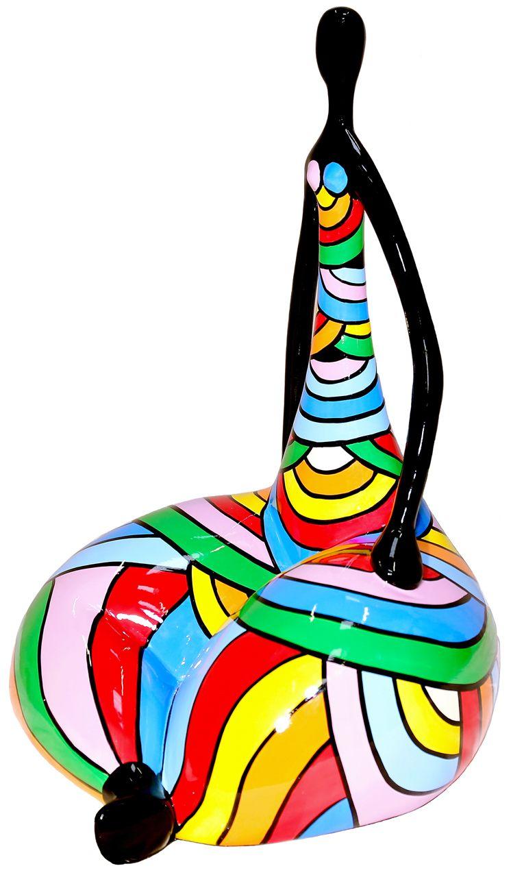 Sculpture Femme Ronde Colorée Épinglé sur objet déco