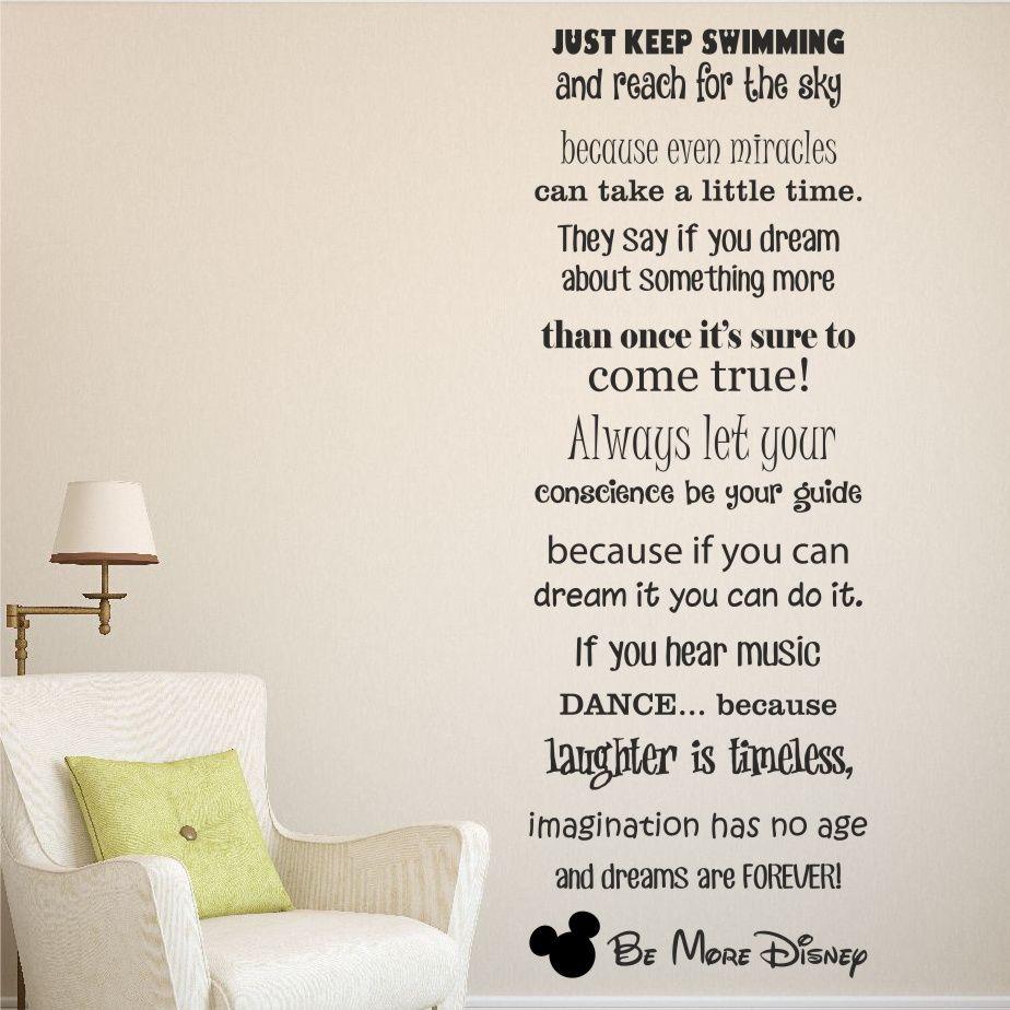 Be more disney wall sticker decal, disney sayings making