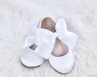 5d00830122c0c Girls CHAMPAGNE Satin shoes Maryjane with gold satin bow for ...