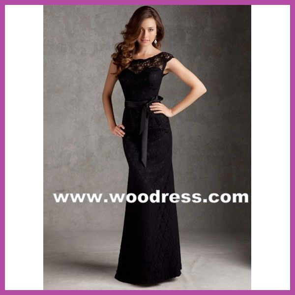 Vestidos de noche largos negro con dorado