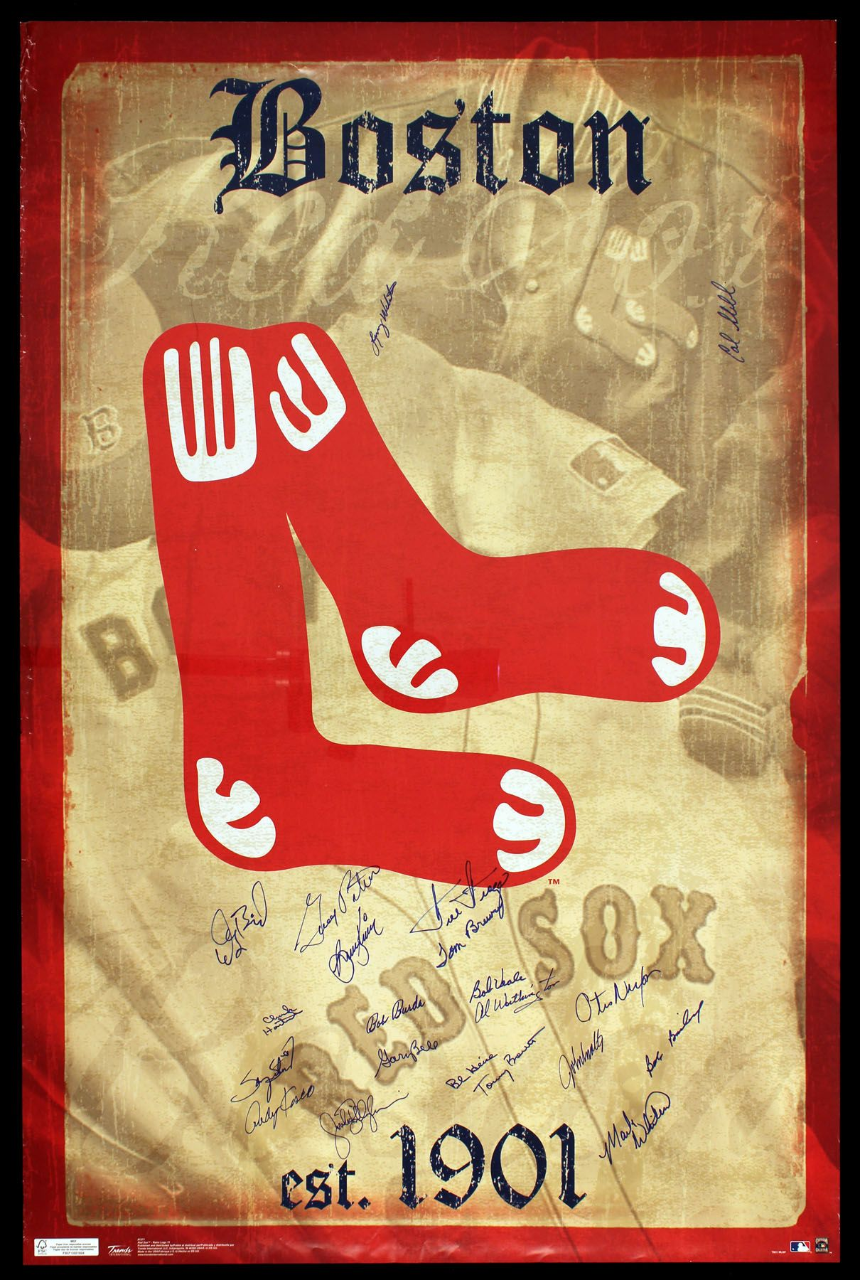 Old Poster | Boston Red Sox | Pinterest | Red socks, Socks and ...