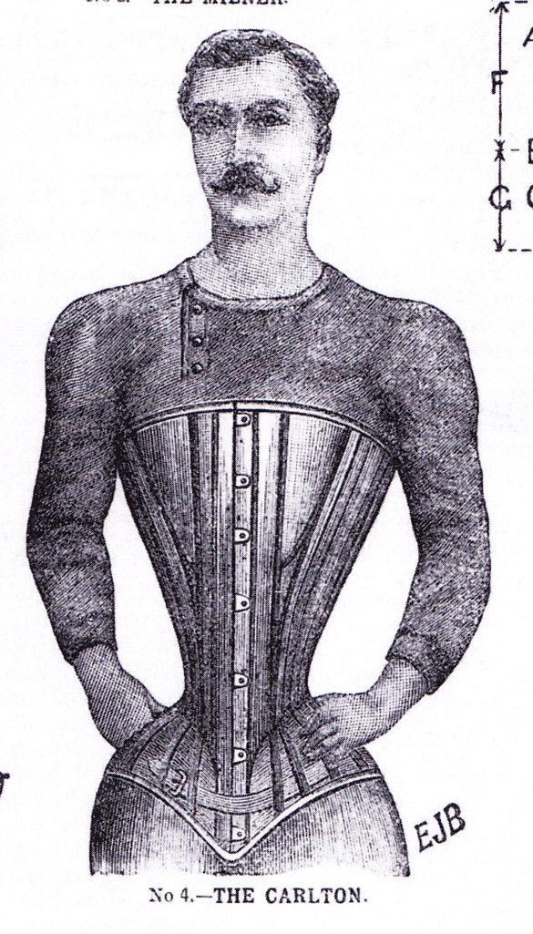 corset for men - of course most mens corsets during this period were to  make the men look like they had large chests (pidgeon chest) and an elegant  ... f78b4c6746f3