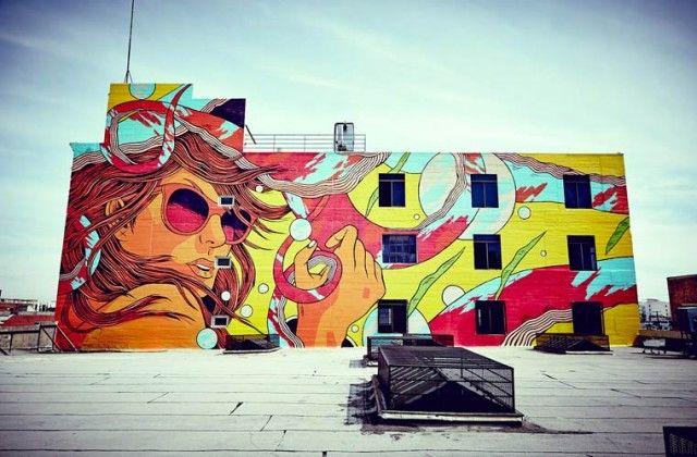Le street art acidulé de Bicicleta Sem Freio