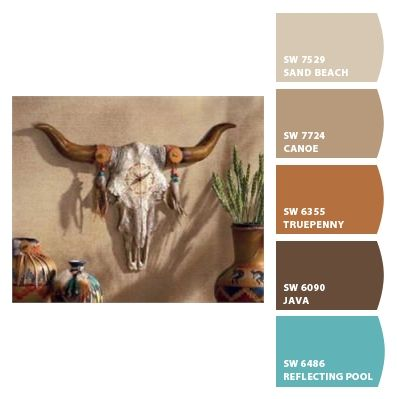 I Just Spotted The Perfect Colors Southwestern Decorating Western Paint Colors Western Home Decor