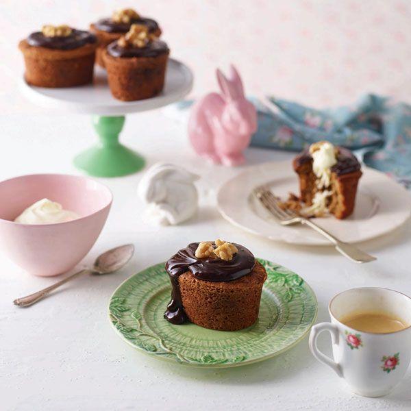 Mini Date, Chocolate & Walnut Easter Cake Recipe | myfoodbook