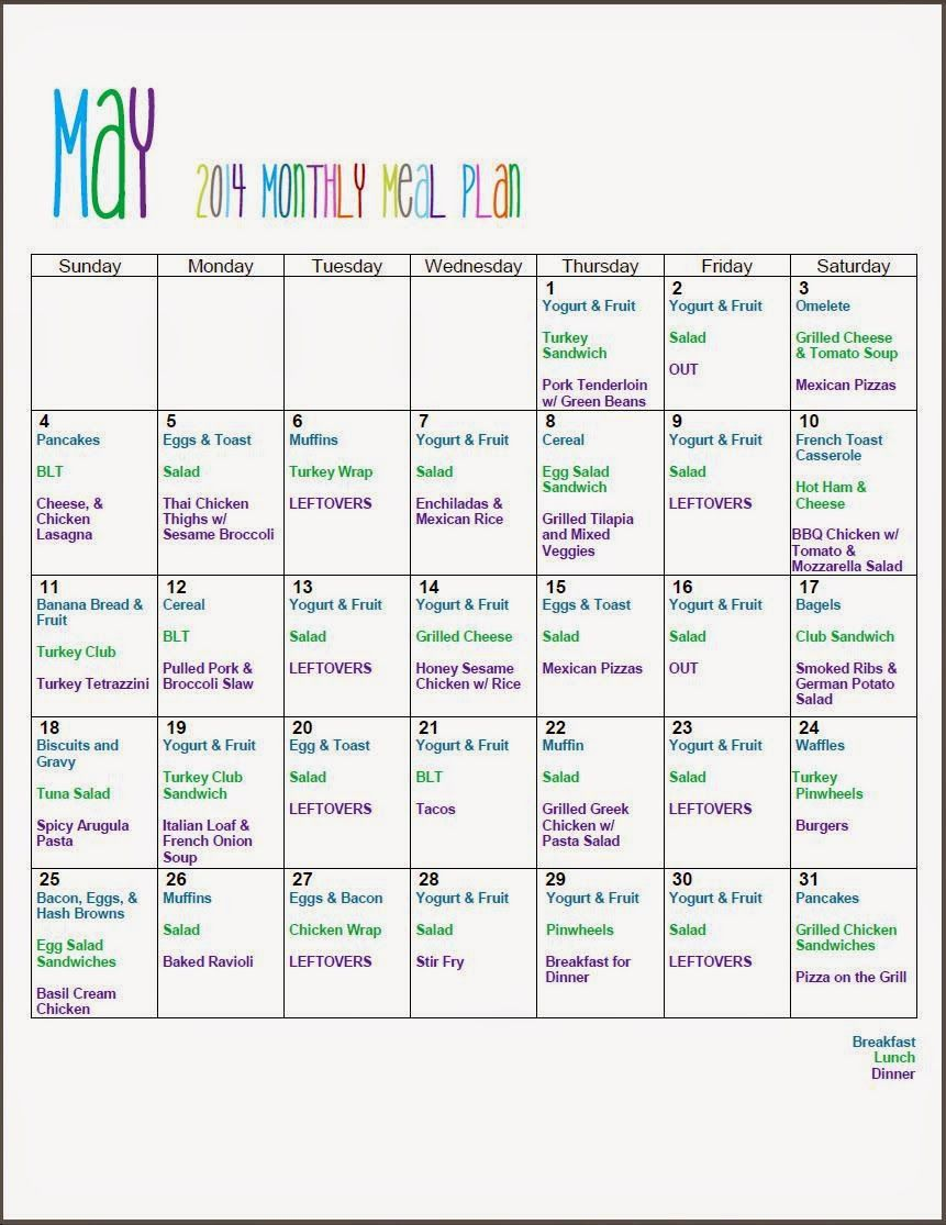Monthly Meal Planning with Mom Mart FreePrintable
