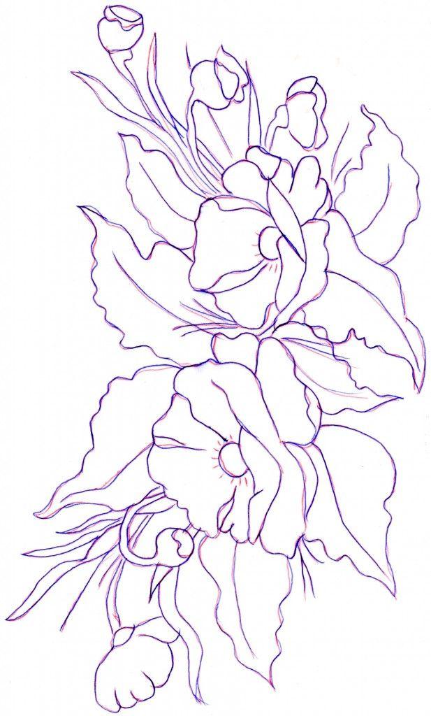 disegno-pittura-su-vetro-camelia.jpg (617×1024) | Pintura ...