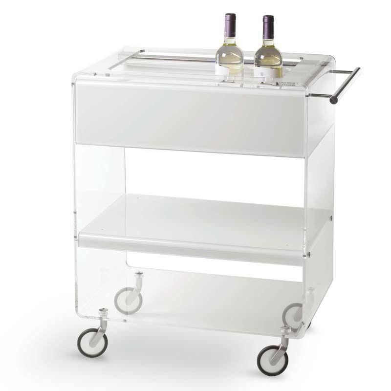 Carrello portavivande 67x40xh76 5 cm arianna con ripiani - Carrello cucina design ...