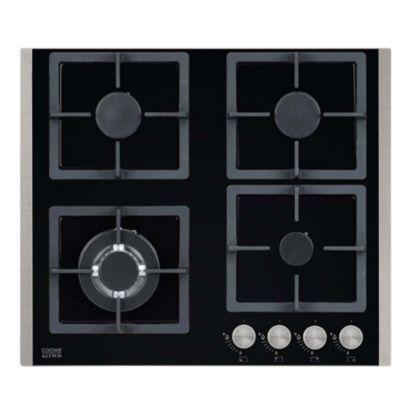 Cooke & Lewis 4 Burner Gas On Glass Hob CLGOG-60, 5052931258628