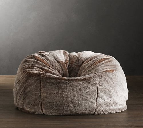 Restoration Hardwareu0027s Grand Luxe Faux Fur Bean Bag Chair   Lynx:A Wrap Of  Sumptuous Luxury Faux Fur Updates This Relaxed Icon.