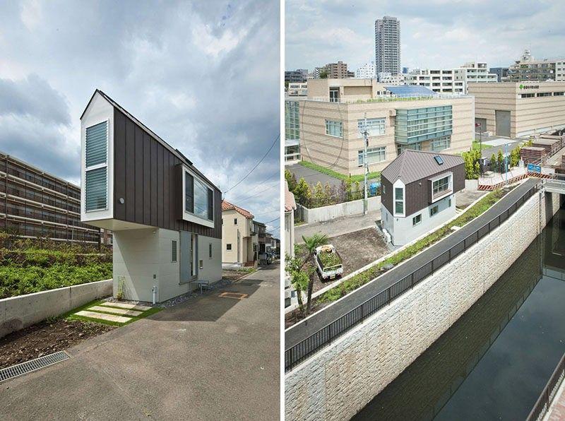 11 kleine moderne Hausprojekte     dieses kleine Haus liegt auf - geometrische formen farben modernes haus