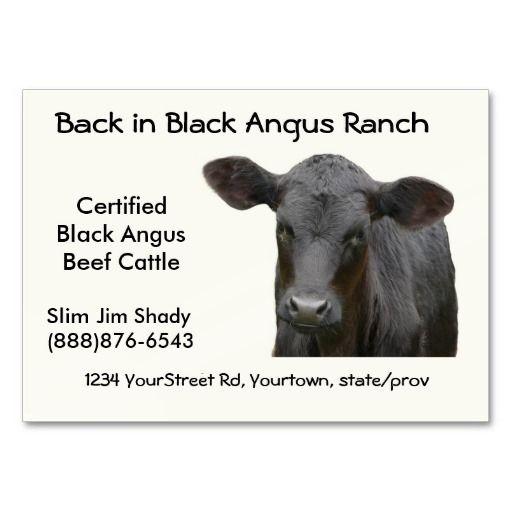 Black angus cattle ranch business card business cards and business black angus cattle ranch business card colourmoves