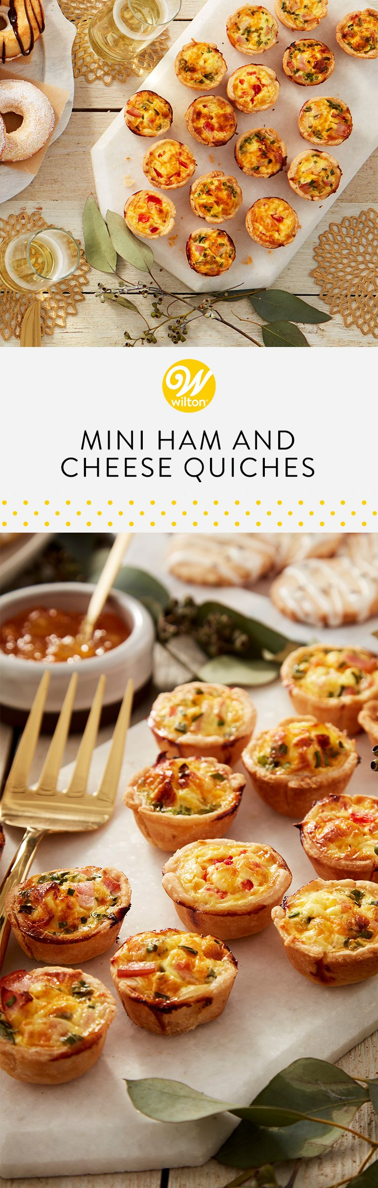 Photo of Mini Ham and Cheese Quiches