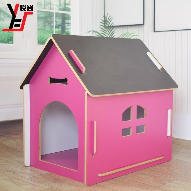 Pet Supplies Dog Kennel Small Pet House Wood Dog Bed Kennel En 2020