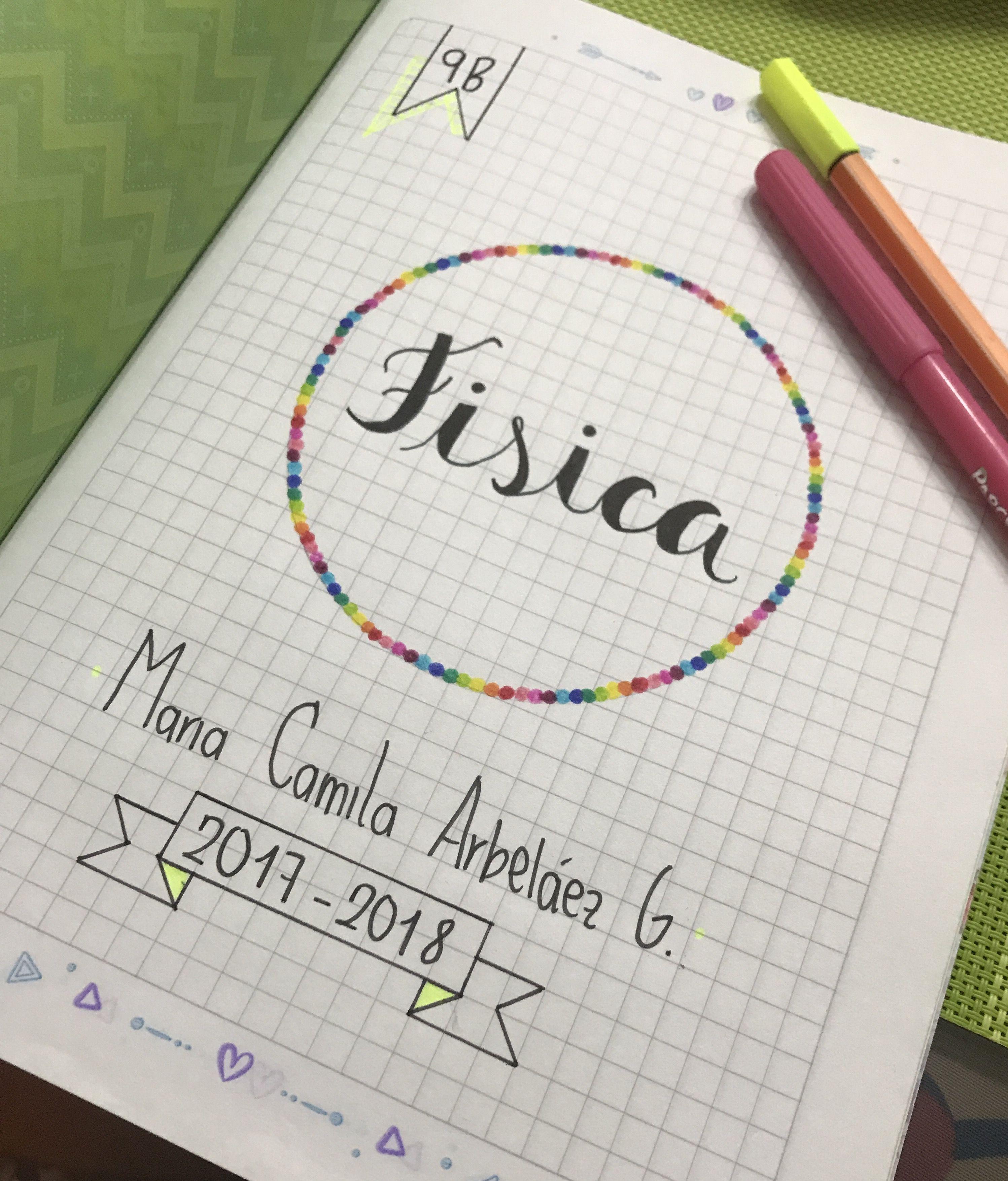Cuaderno de fisica marcado | portadas | Pinterest | Física, Apuntes ...