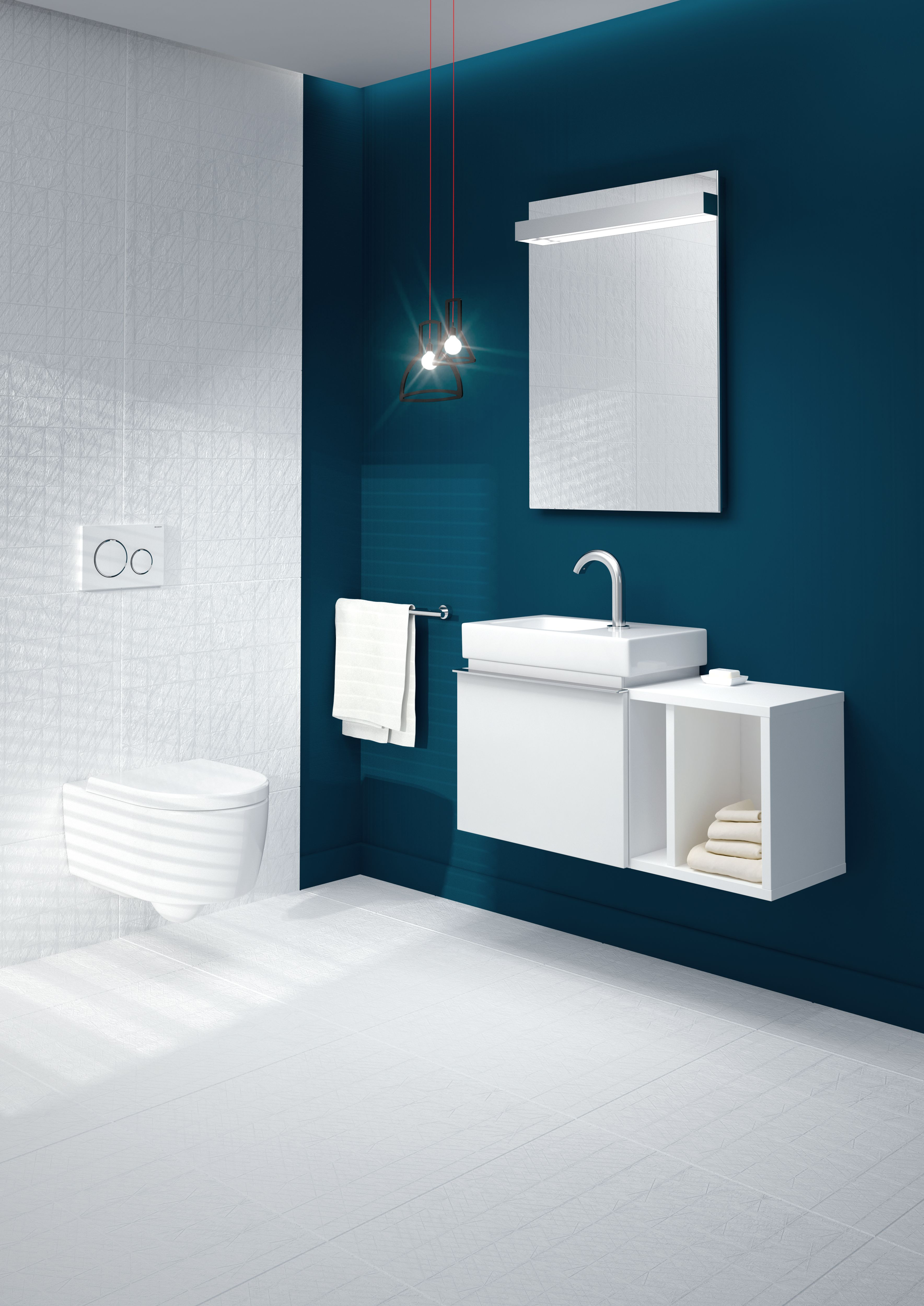 The Geberit iCon XS series is designed to suit bathrooms where space ...