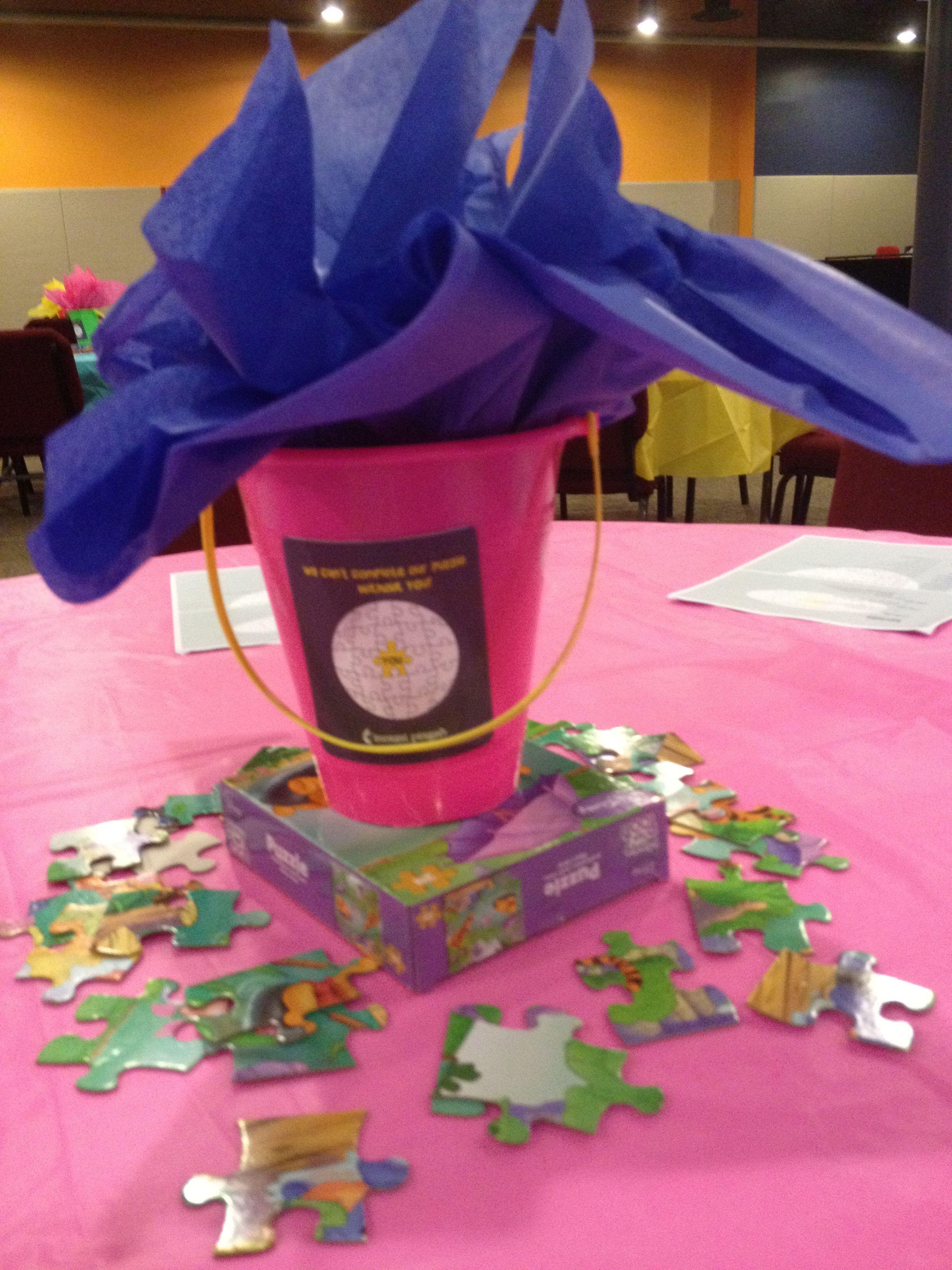 Volunteer event centerpieces children s ministry