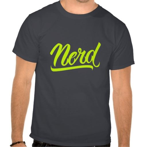 NERD TSHIRTS #Nerd #lettering #LetterHype