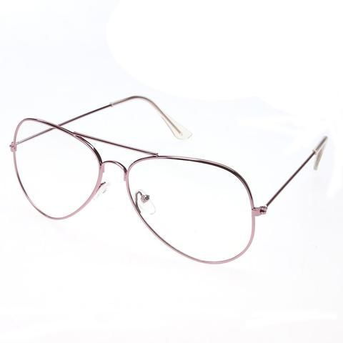 8badaba042 Clear Glasses Alloy Metal Frame Optics Eyeglasses for Women Men oculos  demodlilj