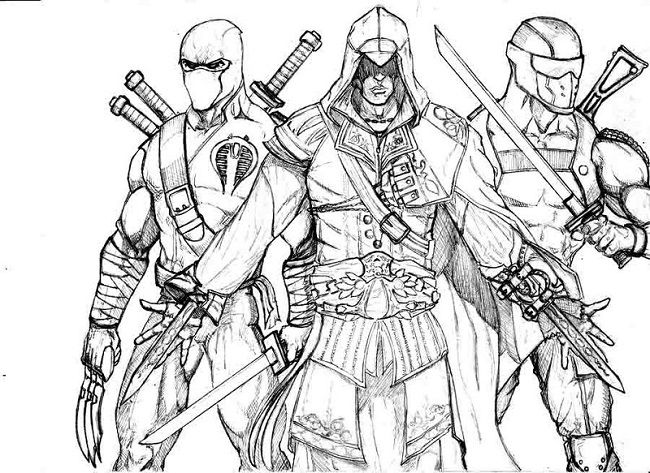 snake eyes coloring pages