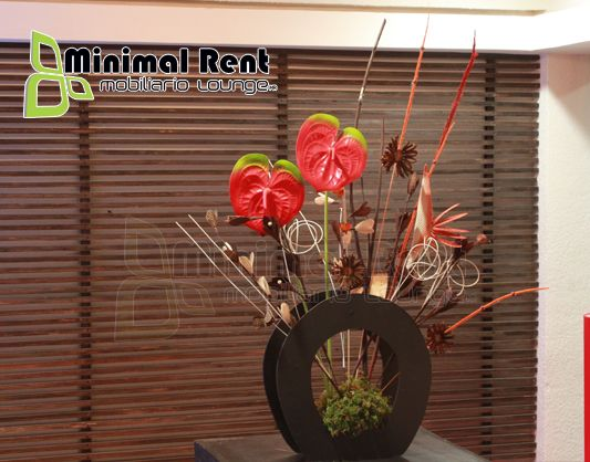 Arreglo Floral Artificial Minimalista Mesa Minimalista