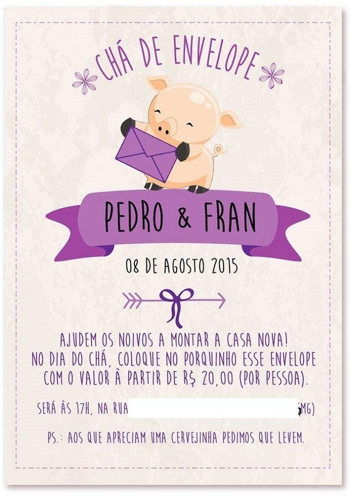 Resultado De Imagem Para Frases Para Cha De Envelope Convites
