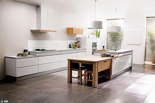 ilot rallonge cuisine pinterest. Black Bedroom Furniture Sets. Home Design Ideas