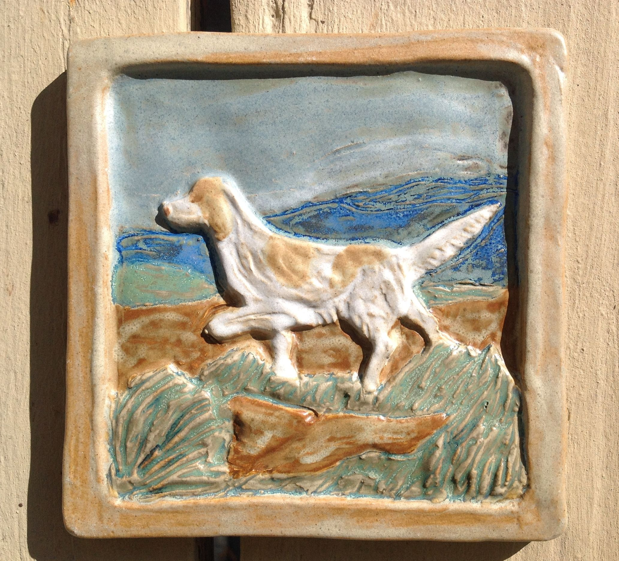 English setter handmade ceramic tile by drumboden tiles dog english setter handmade ceramic tile by drumboden tiles dailygadgetfo Gallery