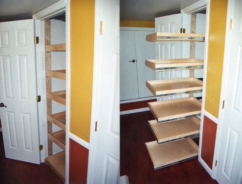 Repurposed Closet. Simple Installation   Note Door Must Open U003e90deg For  Slide Out.