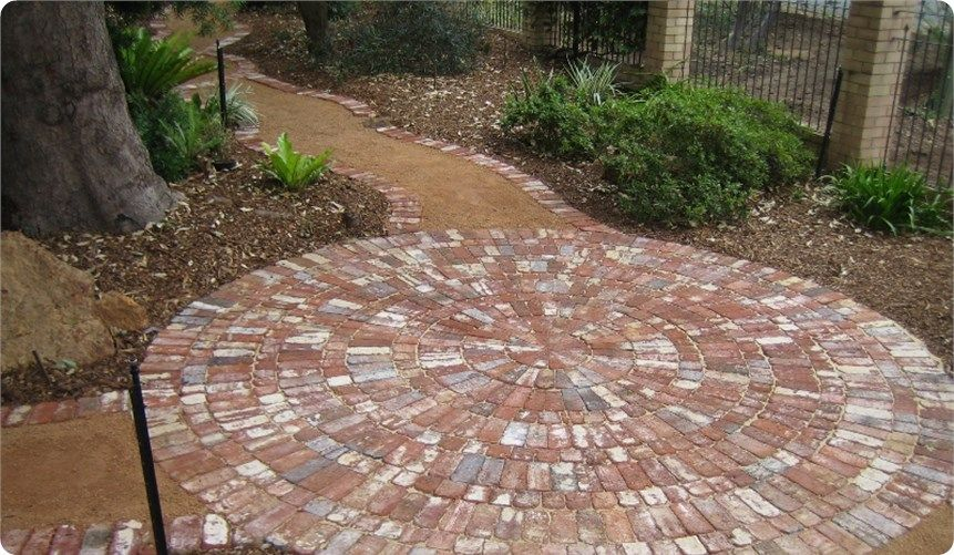 Copy Of Recycled Brick Circle To Break A Path And Create A