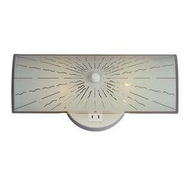 Etonnant Galaxy 1 Light White Standard Bathroom Vanity Light With Plug