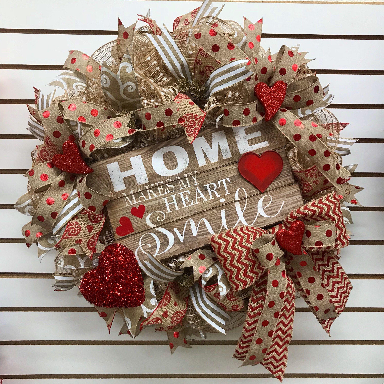 Valentine s Deco Mesh Wreath Deco Mesh Wreath burlap Deco mesh