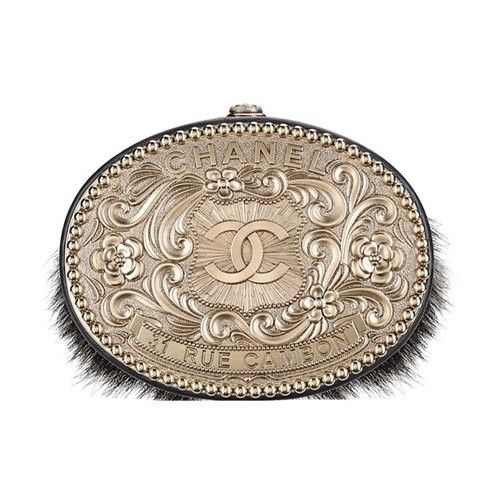 65c64f9d37b1 Chanel Paris-Dallas collection minaudiere in metal and pony hair. #new in  boutiques Contact me to Shop&Ship it for YOU and deliver at your place: ...
