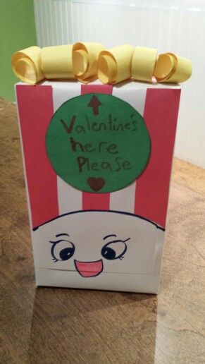 Poppy Corn Shopkin Valentine Box Valentine S Day Pinterest