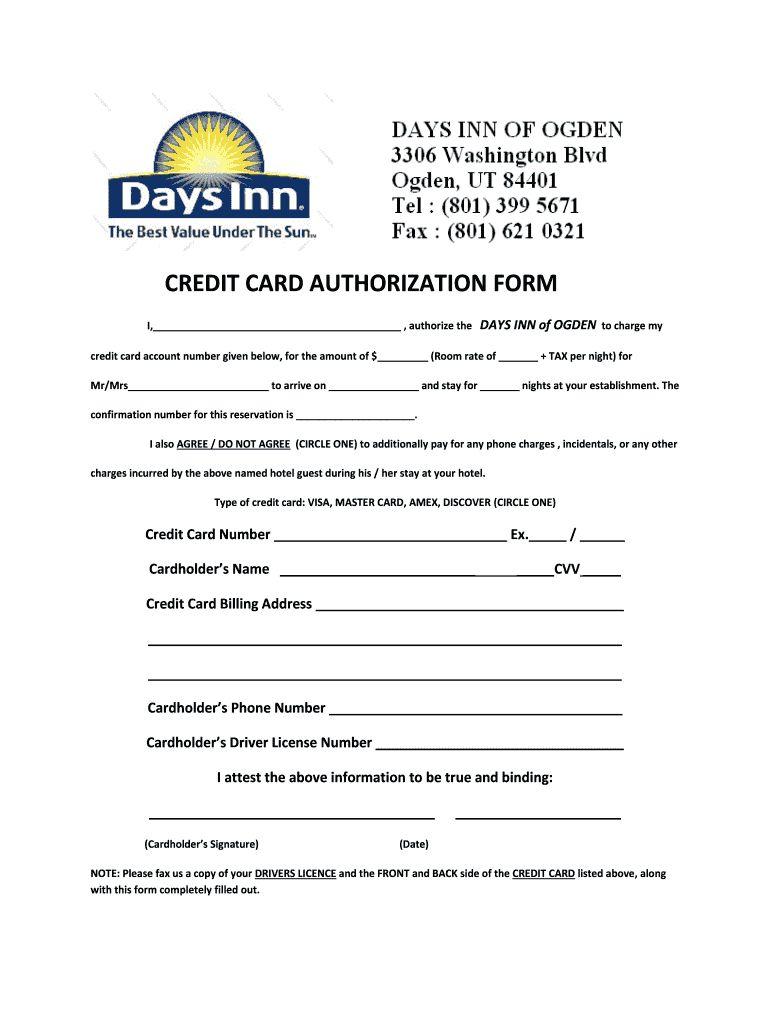 The Amusing 004 Credit Card Authorization Form Template Ideas Surprising Regarding Hotel Credit Car Business Card Template Word Card Template Business Template