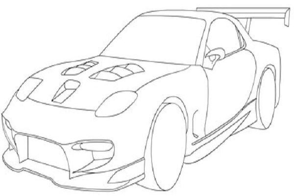 Mazda RX-7 Sport coloring page: After many years of