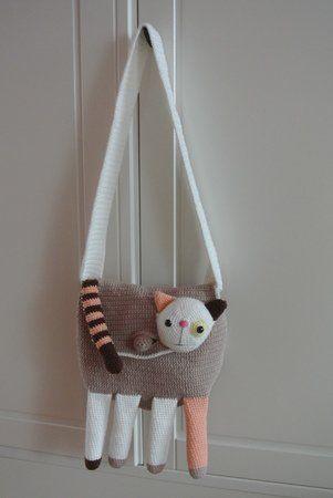 Tasche Häkeln Gehäkelte Tasche Katze Häkeln Tasche Häkelanleitung