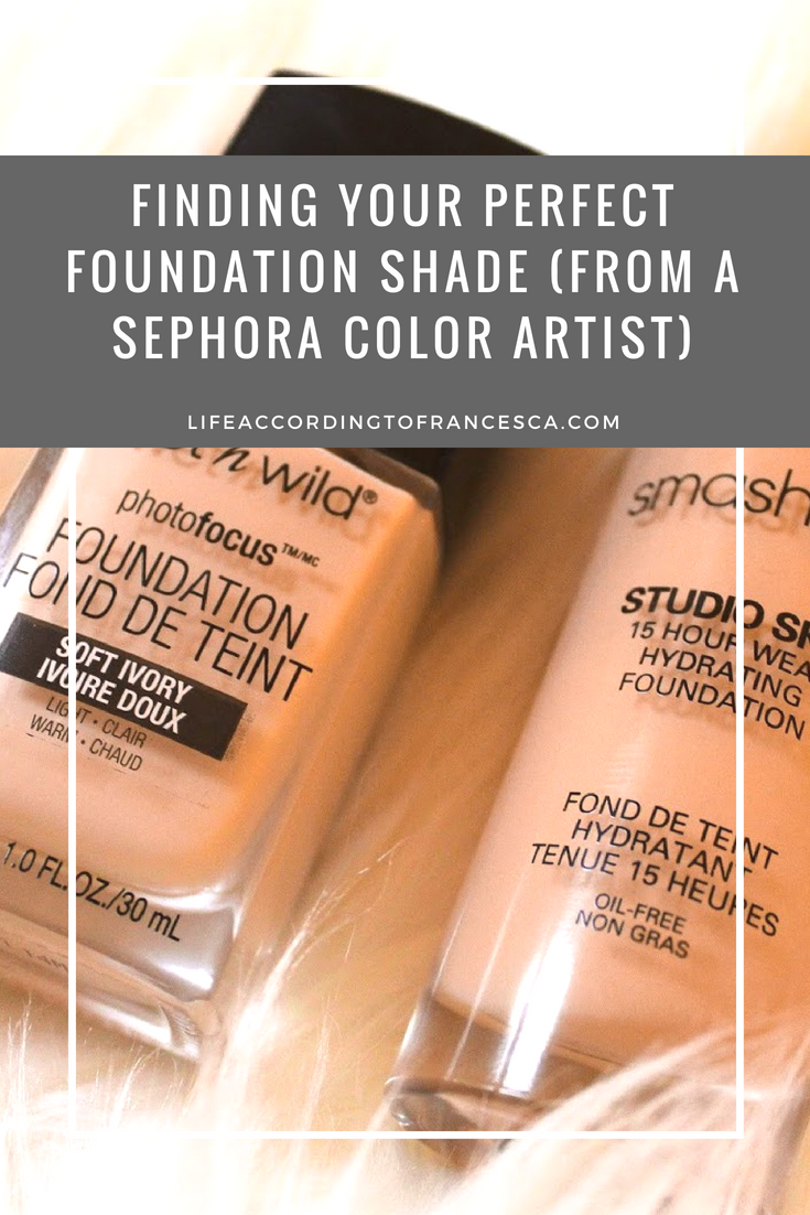 How to find your Foundation Shade; Foundation matching