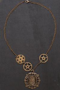 Steampunk Halskette mit Zahnrädern