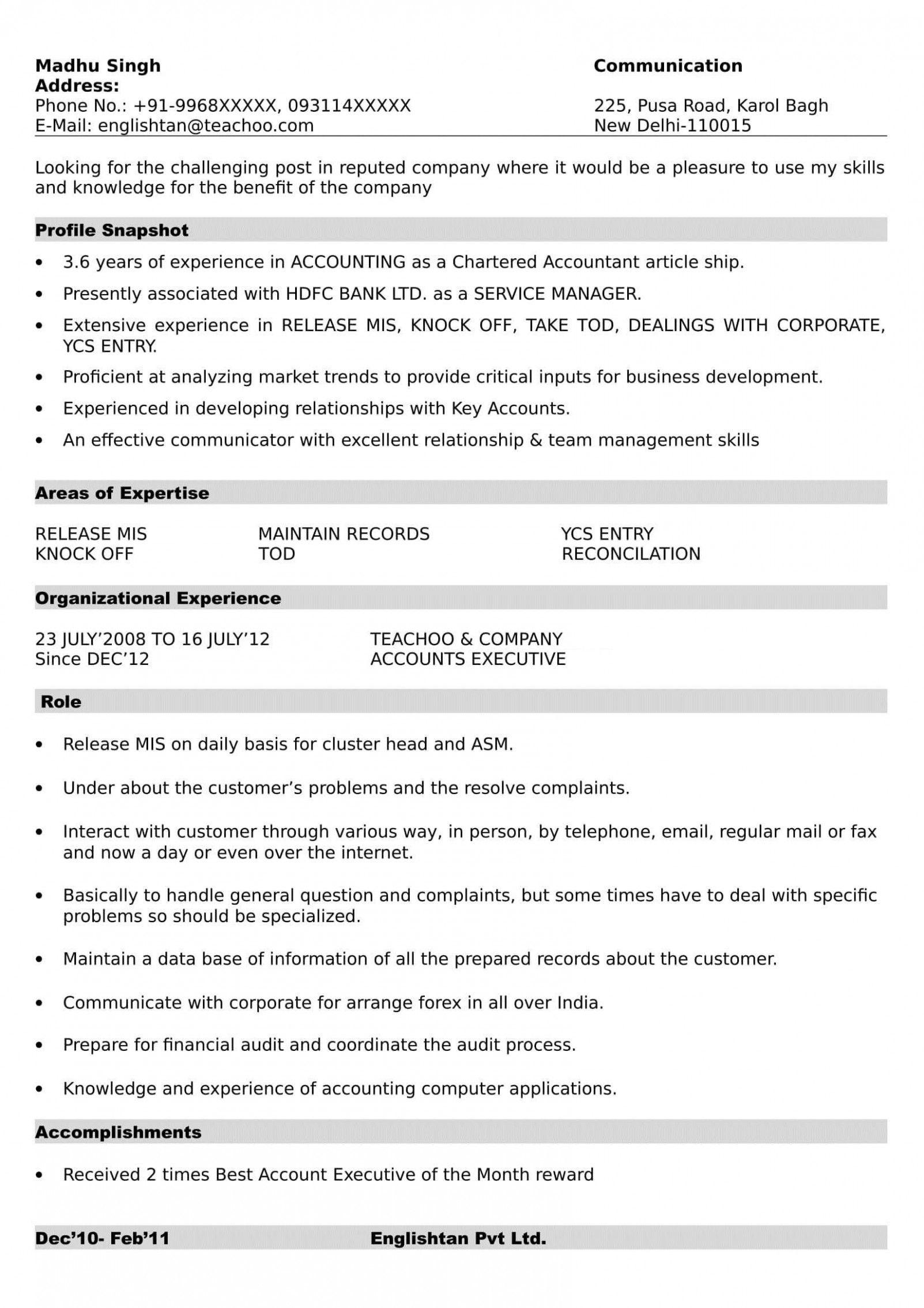13 Resume Format Ms Word di 2020