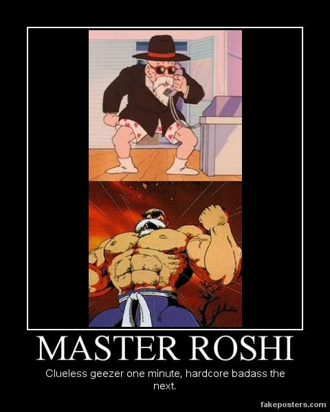 Master roshi demotivational by onikage108 deviantart com on deviantart
