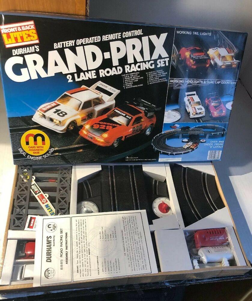 Durham Grand Prix 2 Car Racing Set Factory Sealed New In