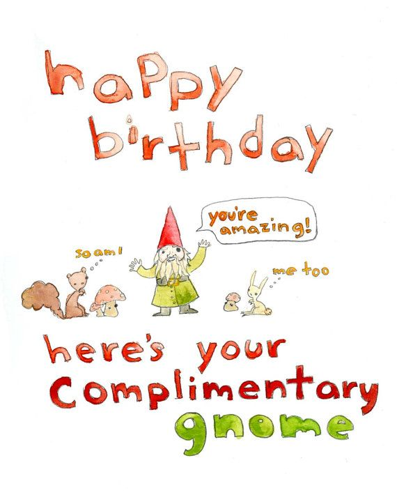 Happy birthday complimentary gnome greeting card happy happy birthday complimentary gnome greeting card by bookmarktalkfo Image collections