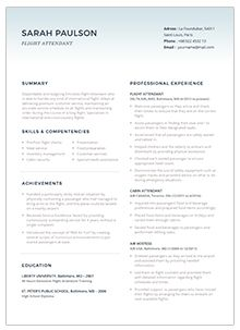 59 flight attendant resume template and sample