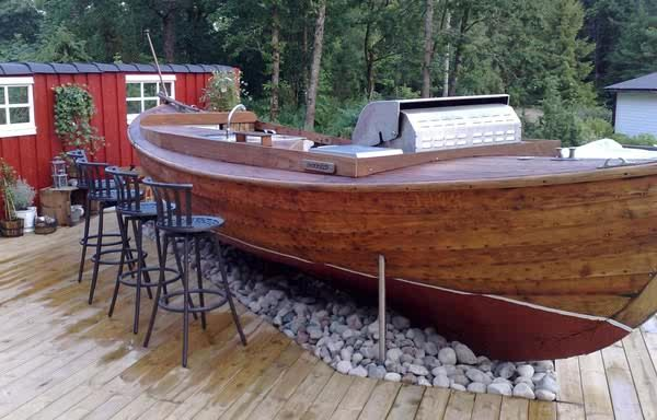 Boat Bar Love Outdoor Tables In 2019 Boat Decor